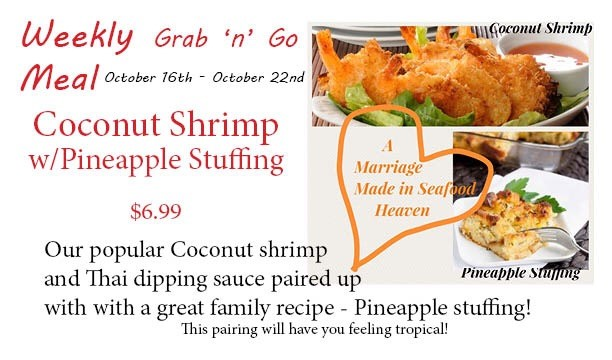 cocnut shrimp with pineapple stuffing