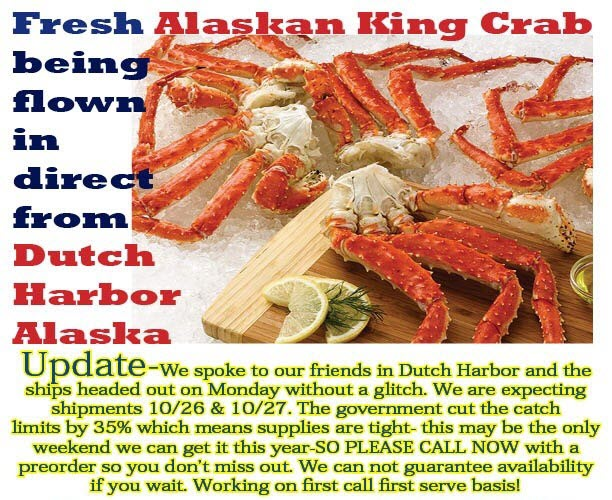 king crab update