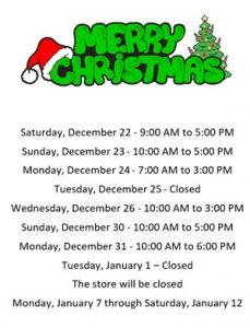 captn chuckys colmar holiday hours