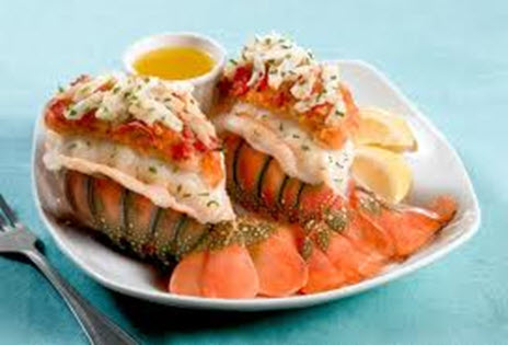 crab imperial stuffed lobster tails