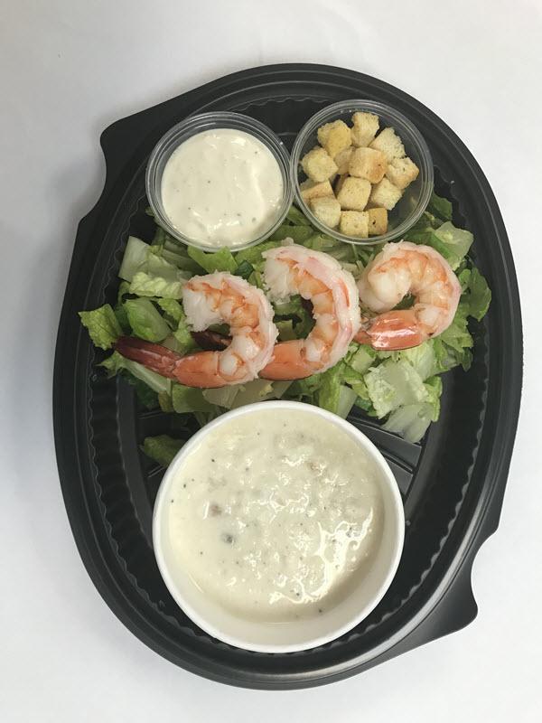 New England Clam Chowder Shrimp Caesar